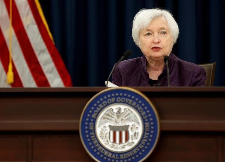 2016年9月21日,美国联邦储备委员会主席叶伦出席记者会。REUTERS/Gary Cameron