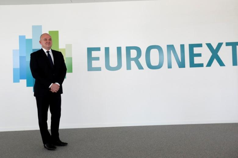 Stephane Boujnah, CEO of stock market operator Euronext, poses during a photocall at the compagny headquarters in Courbevoie, France, May 4, 2016. REUTERS/Jacky Naegelen