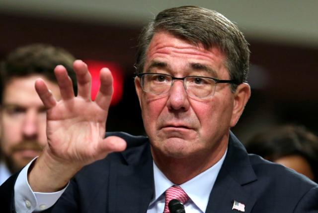 U.S. Defense Secretary Ash Carter testifies before a Senate Armed Services Committee hearing on National Security Challenges and Ongoing Military Operations on Capitol Hill in Washington, U.S., September 22, 2016. REUTERS/Yuri Gripas