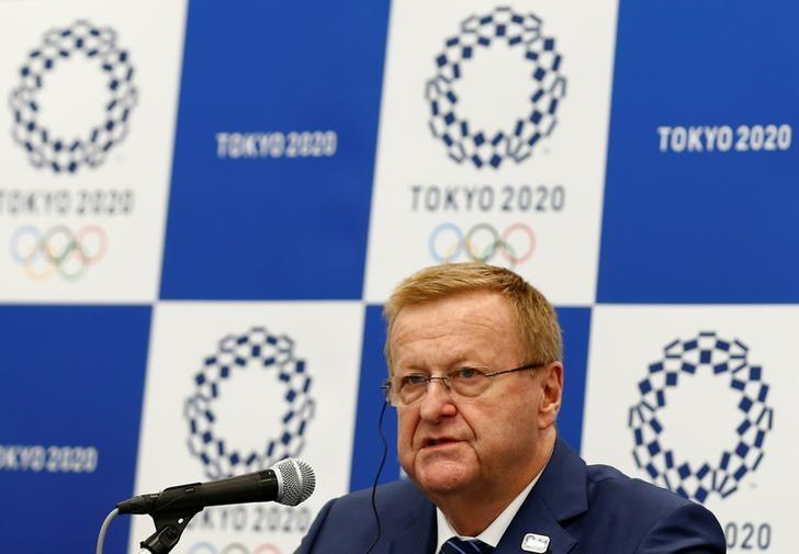 International Olympic Committee (IOC) Chairman of the Coordination Commission for the Tokyo 2020 Games John Coates speaks during a news conference in Tokyo, Japan, May 26, 2016. REUTERS/Thomas Peter