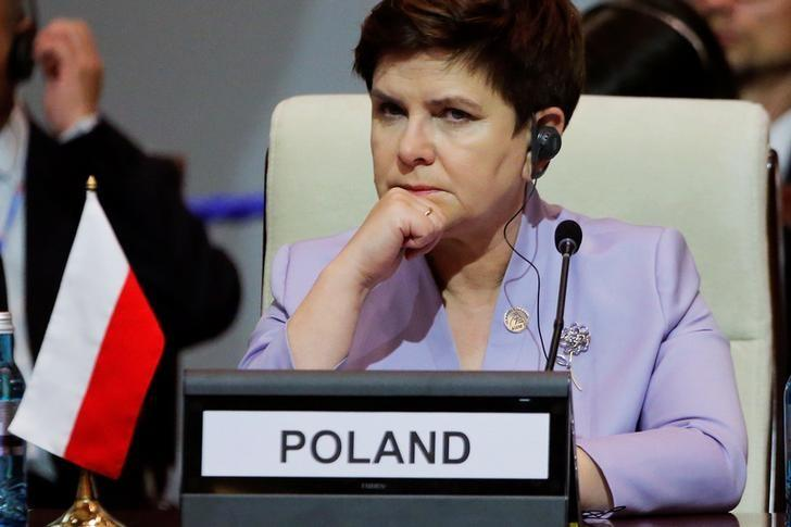 Poland's Prime Minister Beata Szydlo attends the opening session of the Asia-Europe Meeting (ASEM) summit in Ulaanbaatar, Mongolia, July 15, 2016.   REUTERS/Damir Sagolj