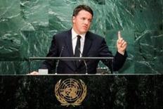 Un terremoto que provocó la muerte de 297 personas en el centro de Italia el mes pasado causó daños valorados en al menos 4.000 millones de euros, dijo el viernes el primer ministro Matteo Renzi. En la imagen, Renzi durante un discurso ante la Asamblea General de Naciones Unidas en Nueva York, el 20 de septiembre de 2016. REUTERS/Eduardo Muñoz