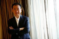 Wang Jianlin, chairman of the Wanda Group, poses for pictures after an interview in Beijing, China, August 23, 2016.  REUTERS/Thomas Peter