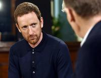 Cyclist Bradley Wiggins speaks on the BBC's Andrew Marr Show in this undated photograph received via the BBC in London, Britain September 24, 2016. Jeff Overs/BBC/Handout via REUTERS