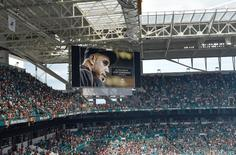 Sep 25, 2016; Miami Gardens, FL, USA;  A moment of silence for Miami Marlins starting pitcher Jose Fernandez who passed away from a boating accident this morning, prior to a game between the Cleveland Browns and the Miami Dolphins at Hard Rock Stadium. Mandatory Credit: Steve Mitchell-USA TODAY Sports