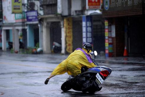 Man vs. typhoon