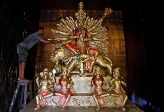 Preparing for Durga Puja and Navratri