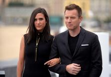 Actor Ewan McGregor (R) and actor Jennifer Connelly take part in a photocall to promote the feature film American Pastoral at the San Sebastian Film Festival, in San Sebastian, northern Spain September 23, 2016. REUTERS/Vincent West