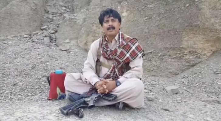 Head of Baluchistan Liberation Front (BLF) Allah Nazar Baloch speaks during an interview in an unknown location in this still image taken from video on September 29, 2016. REUTERS/Baluchistan Liberation Front (BLF) Handout via Reuters TV