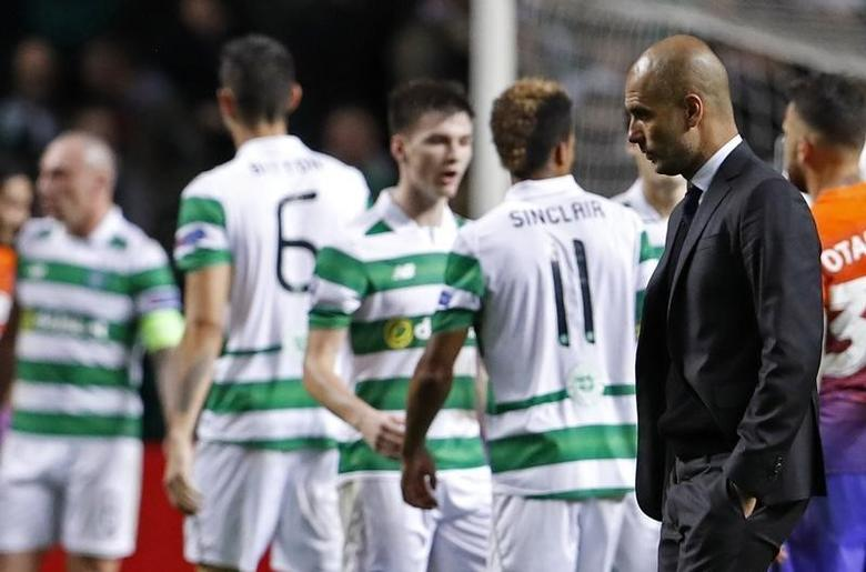 Britain Soccer Football - Celtic v Manchester City - UEFA Champions League Group Stage - Group C - Celtic Park, Glasgow, Scotland  - 28/9/16Manchester City manager Pep Guardiola after the match Action Images via Reuters / Lee Smith/ Livepic