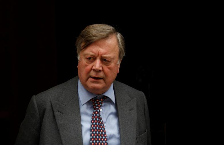 Britain's Justice Secretary Kenneth Clarke leaves 10 Downing Street in London, Britain, November 29, 2011. REUTERS/Suzanne Plunkett/File Photo