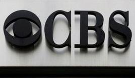 """The CBS """"eye"""" and logo are seen outside the CBS Broadcast Center on West 57th St. in Manhattan, New York, U.S. on April 29, 2016.  REUTERS/Brendan McDermid/File Photo"""