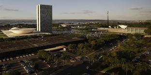 Vista do prédio do Congresso Nacional, em Brasília 28/04/2014 REUTERS/Ueslei Marcelino