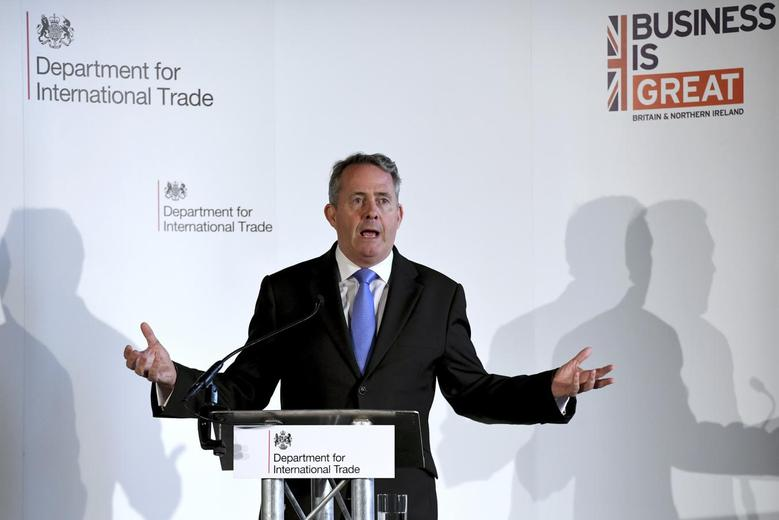 International Trade Secretary Liam Fox delivers a speech at Manchester Town Hall in Manchester, Britain September 29, 2016. REUTERS/Anthony Devlin
