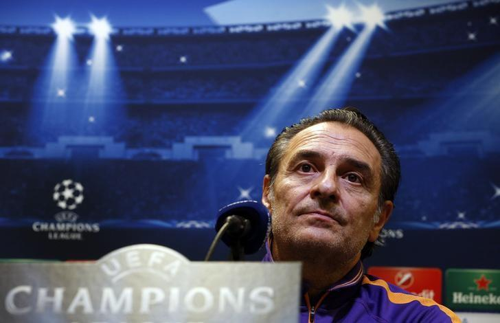 Coach Cesare Prandelli addresses a news conference in Dortmund November 3, 2014. REUTERS/Ina Fassbender