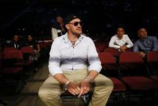 Britain Boxing - Anthony Crolla v Jorge Linares WBA & WBC Diamond Lightweight Title's - Manchester Arena - 24/9/16 Tyson Fury before the start of the boxing Action Images via Reuters / Peter Cziborra Livepic