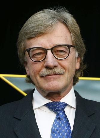 Yves Mersch, Member of the Executive Board of the European Central Bank attends the presentation of the new 10 euro note at the headquarters of the European Central Bank (ECB) in Frankfurt, January 13, 2014.  REUTERS/Ralph Orlowski