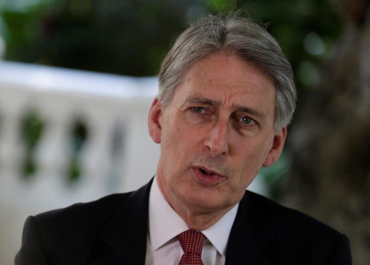 Britain's Foreign Secretary Philip Hammond talks to Reuters during an interview in Havana, Cuba, April 29, 2016. REUTERS/Enrique de la Osa