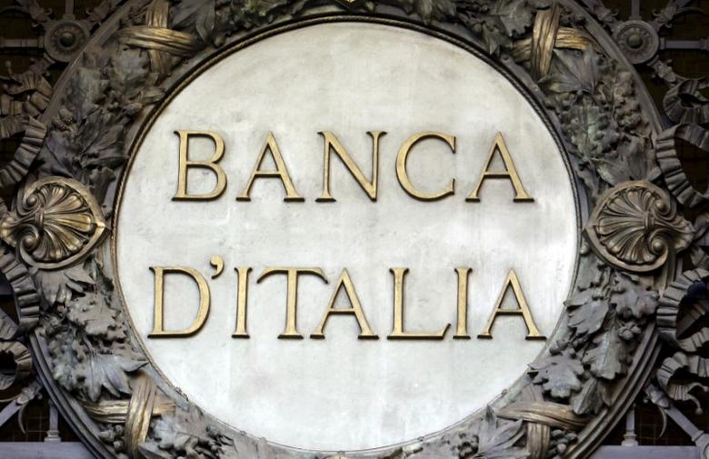 The Banca D'Italia (Bank of Italy) logo is seen at the headquarters in Milan, Italy, in this file picture taken January 19, 2016. REUTERS/Stefano Rellandini/Files