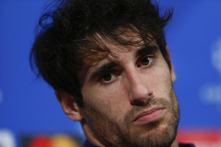Football Soccer - Bayern Munich v Atletico Madrid - Allianz Arena Munich, Germany - 02/05/16 Bayern Munich's Javi Martinez during news conference prior to UEFA Champions League semi-final return match against Atletico Madrid REUTERS/Michaela Rehle