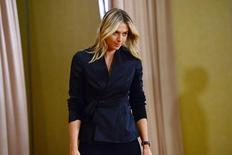 Mar 7, 2016; Los Angeles, CA, USA; Maria Sharapova arrives for a press conference announcing a failed drug test after the Australian Open during a press conference today at The LA Hotel Downtown. Mandatory Credit: Jayne Kamin-Oncea-USA TODAY Sports