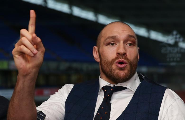 Boxing - Tyson Fury - WBA, IBF, WBO & IBO Heavyweight Champion Homecoming Press Conference - The Whites Hotel, Macron Stadium, Bolton - 30/11/15Tyson Fury during the press conferenceAction Images via Reuters / Alex MortonLivepic