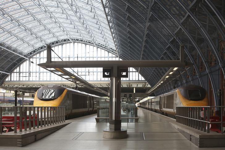 Eurostar trains wait at St Pancras international station in London, Britain August 10, 2016. REUTERS/Neil Hall/File Photo