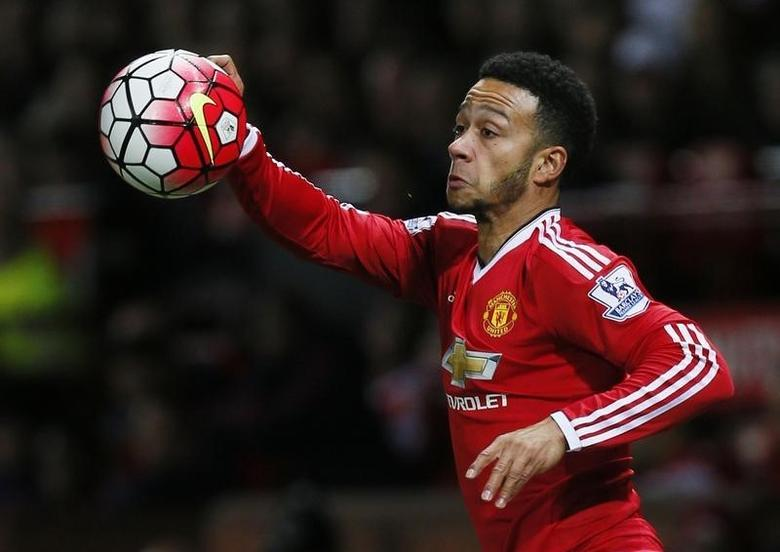 Football Soccer - Manchester United v Crystal Palace - Barclays Premier League - Old Trafford - 20/4/16Manchester United's Memphis DepayAction Images via Reuters / Jason CairnduffLivepic/Files