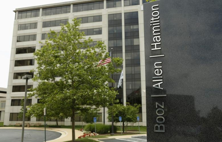 The Booz Allen Hamilton Holding Corp office building is seen in McLean, Virginia, U.S. June 11, 2013.    REUTERS/Kevin Lamarque/File Photo