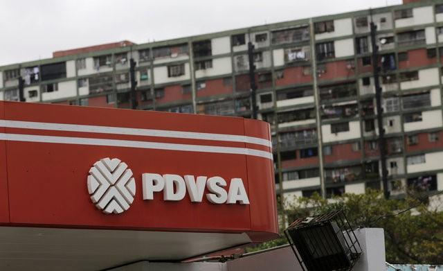 The logo of the Venezuelan state oil company PDVSA is seen at a gas station in Caracas, Venezuela, September 14, 2016. REUTERS/Henry Romero