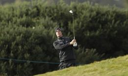 Belgium's Thomas Pieters plays his approach on the 14th hole during the first round Action Images via Reuters / Lee Smith Livepic