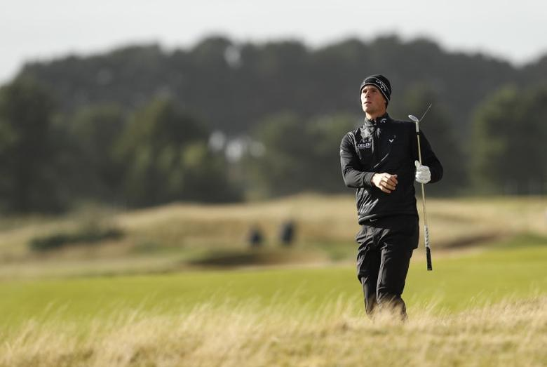 Golf Britain - Alfred Dunhill Links Championship - Carnoustie, Scotland - 6/10/16Belgium's Thomas Pieters watches his approach on the 15th hole during the first roundAction Images via Reuters / Lee SmithLivepic