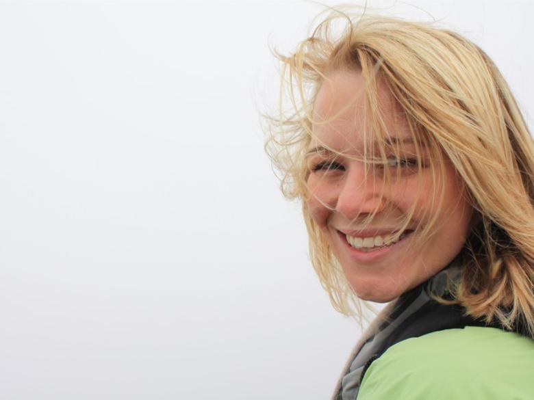 UC Davis post doctoral student Sharon Gray is shown November 20, 2014.  Photo courtesy of Plant Biology Dept/UC Davis/Handout via REUTERS