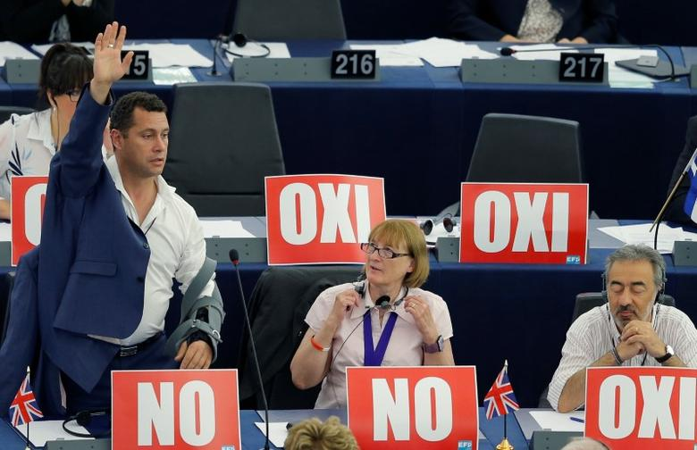 Steven Woolfe, of the United Kingdom Independence Party (UKIP), is seen attending a session of the European Parliament in Strasbourg, France, July 8, 2015.   REUTERS/Vincent Kessler/File photo