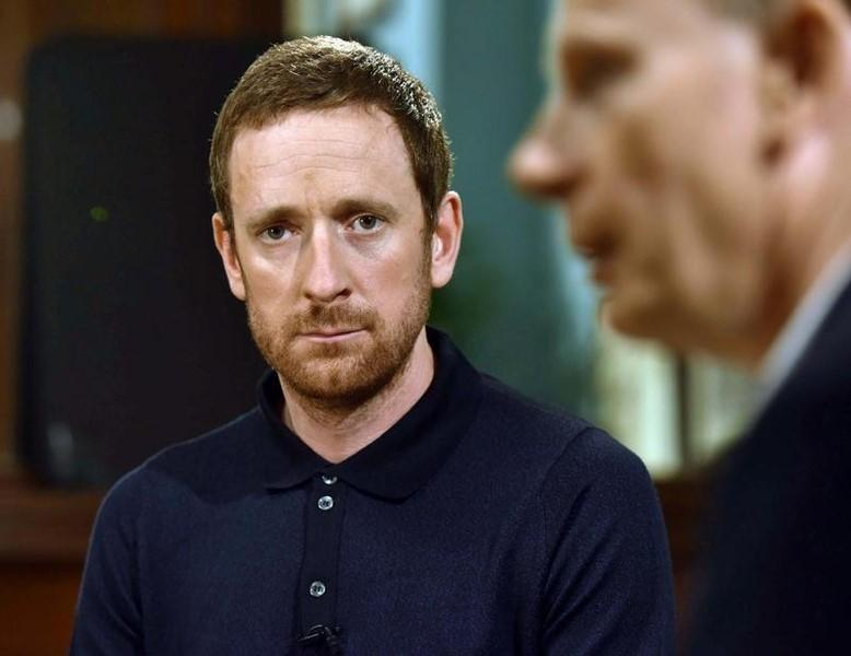 Cyclist Bradley Wiggins looks on at the BBC's Andrew Marr Show in this undated photograph received via the BBC in London, Britain September 24, 2016. Jeff Overs/BBC/Handout via REUTERS