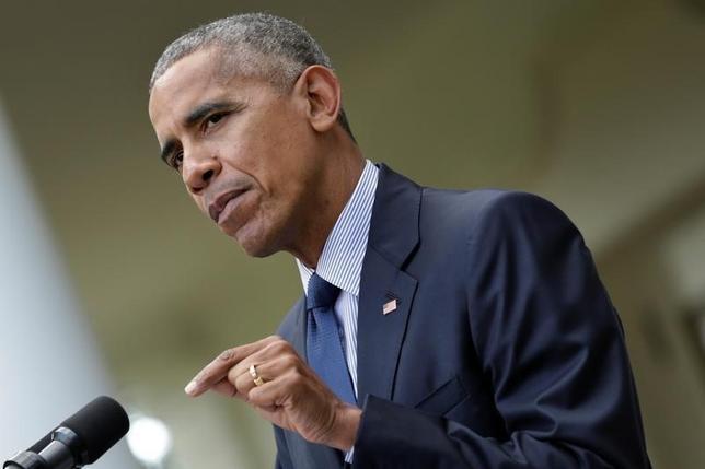 U.S. President Barack Obama in the Rose Garden of the White House in Washington, U.S., October 5, 2016. REUTERS/Yuri Gripas