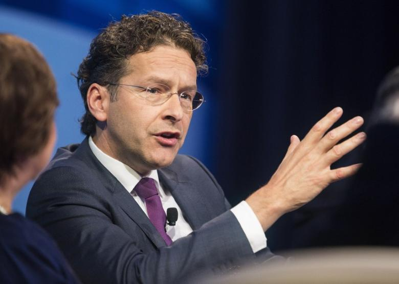 Jeroen Dijsselbloem participates in a discussion on the global economy during the World Bank/IMF Annual Meeting in Washington October 9, 2014.      REUTERS/Joshua Roberts