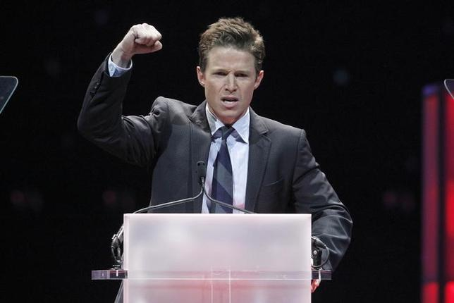 Television personality Billy Bush hosts the CinemaCon Big Screen Achievement Awards show at Caesars Palace in Las Vegas, Nevada, April 26, 2012. REUTERS/Steve Marcus