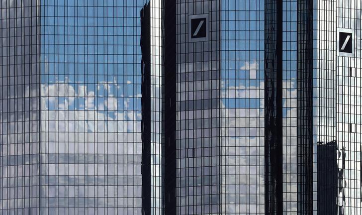 2016年10月5日,德国法兰克福,德意志银行总部。REUTERS/Kai Pfaffenbach