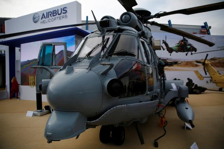 A multi-role military helicopter EC 725 by Airbus Helicopters is pictured at an international military fair in Kielce, southern Poland September 2, 2014.  REUTERS/Kacper Pempel/File Photo
