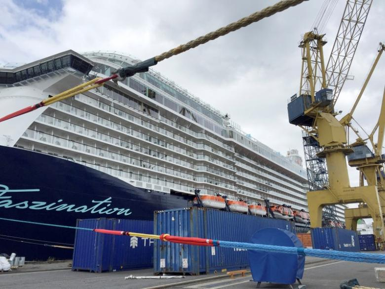 TUI Cruises' '''Mein Schiff 5'' vessel is pictured at Meyer shipyard in Turku, Finland, June 20, 2016. Picture taken June 20, 2016. REUTERS/Jussi Rosendahl