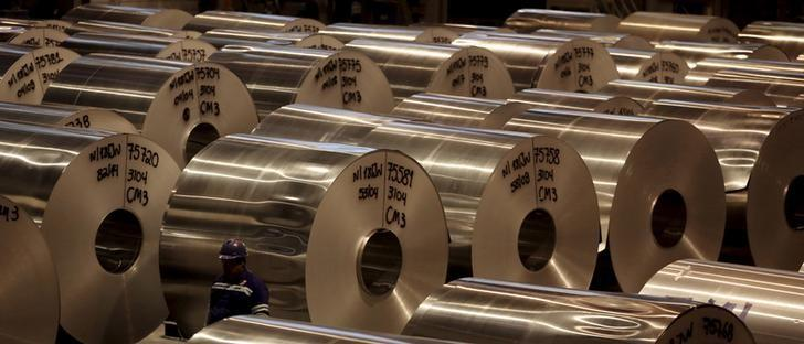 Aluminium coils are seen at Noveli aluminium factory in Pindamonhangaba, Brazil, June 19, 2015. REUTERS/Paulo Whitaker