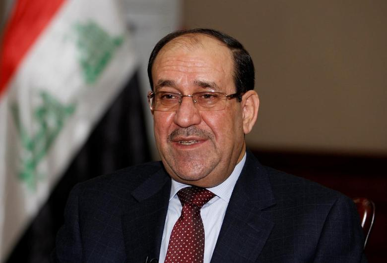 Iraq's former Prime Minister Nuri al-Maliki speaks during an interview with Reuters in Baghdad January 12, 2014.  IRAQ/MALIKI   REUTERS/Thaier Al-Sudani/File Photo