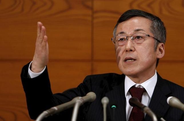 10月12日、日銀の原田泰審議委員は長野県松本市内で講演し、「世界経済の急激な変化など2%の物価目標達成が困難になる事態が生じればちゅうちょなく追加緩和をすべき」と主張した。写真は都内で昨年3月撮影(2016年 ロイター/Yuya Shino)