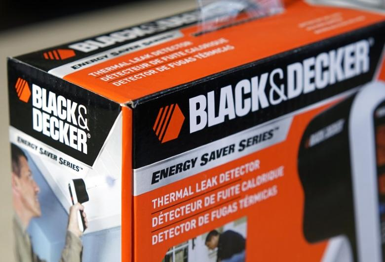 A Black & Decker tool is seen in Golden, Colorado January 23, 2014.  Stanley Black & Decker Inc. will announce their Q4 and FY 2013 earnings on Friday.  REUTERS/Rick Wilking