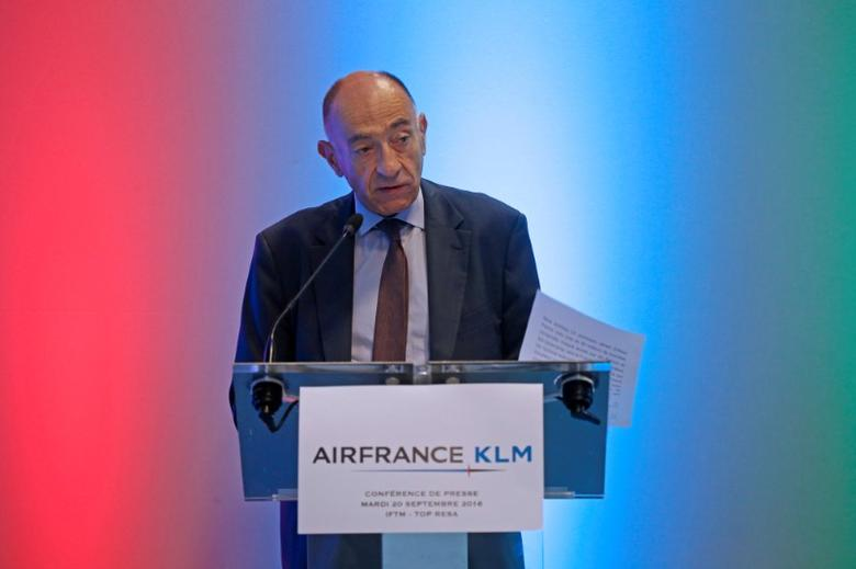 Jean-Marc Janaillac, Chairman and Chief Executive Officer of Air France-KLM, attends a news conference at the IFTM Top Resa show in Paris, France, September 20, 2016. REUTERS/Jacky Naegelen
