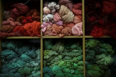 Skeins are stocked at the Royal Tapestry Factory in Madrid, Spain, October 7, 2016. Picture taken October 7, 2016. REUTERS/Susana Vera