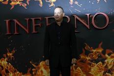 """Tom Hanks durante evento do filme """"Inferno"""" em Londres.    12/10/2016             REUTERS/Stefan Wermuth"""
