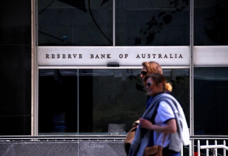 Pedestrians walk past the main entrance to the Reserve Bank of Australia (RBA) head office in central Sydney, Australia, October 3, 2016. REUTERS/David Gray/Files