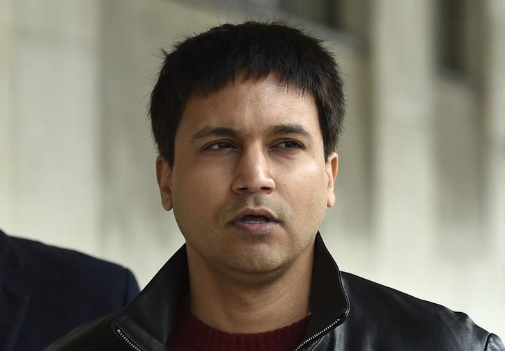 Navinder Sarao arrives at Westminster Magistrates' Court for an extradition hearing in London, Britain March 23, 2016. REUTERS/Toby Melville